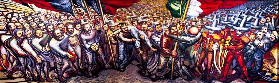 Mural Revolucion Mexicana El Revolucionario Escarlata