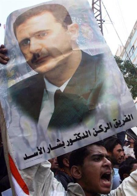 apoyo al presidente sirio