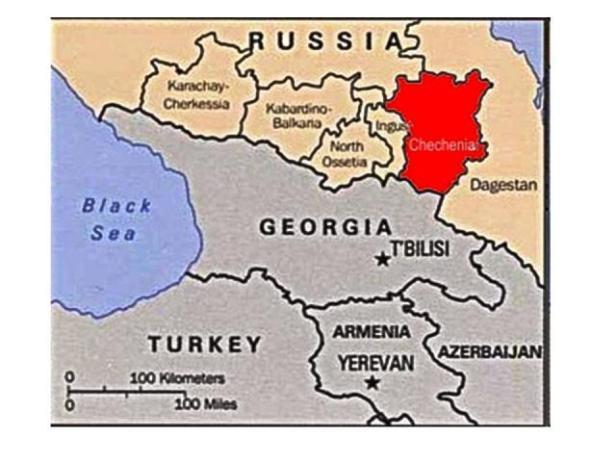 chechenia en el mapa
