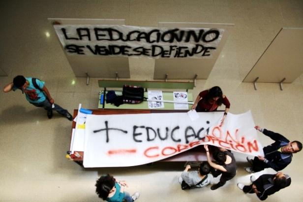Encierro Asamblea Libre de Estudiantes de la UJA