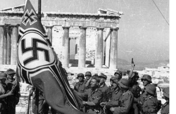 nazis alemanes en grecia