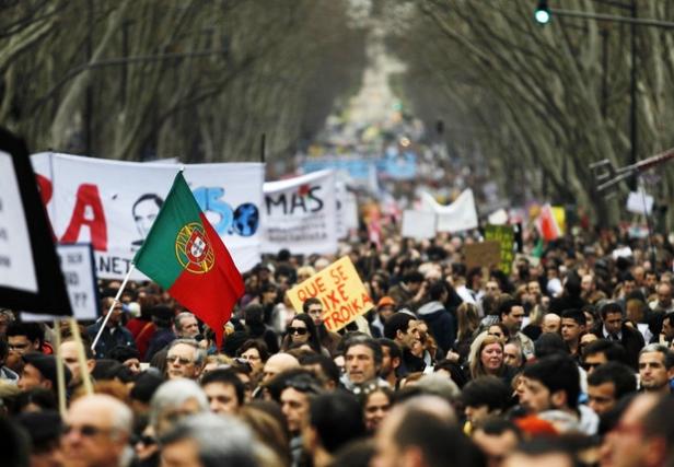 Portugal-manifestacion antitroika