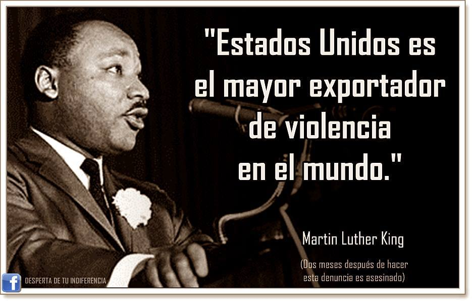 Resultado de imagen de El gobierno que rinde homenaje a Martin Luther King con un día de fiesta nacional lo mató