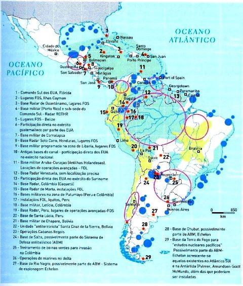 Bases extranjeras en la América Latina