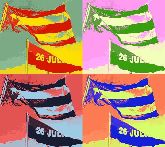 banderas cubanas-26 de julio