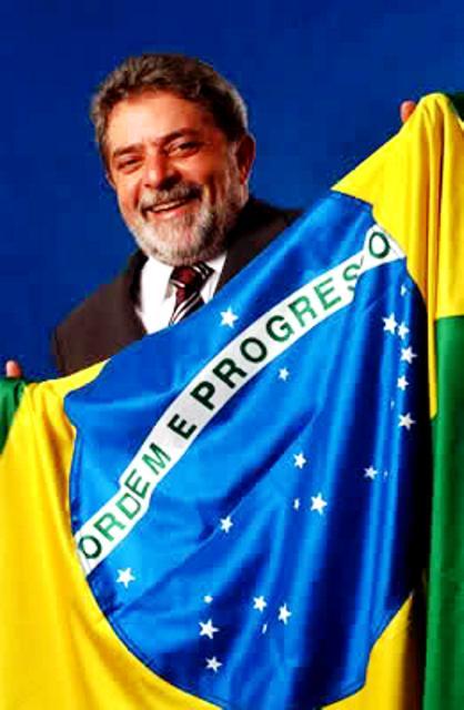 lula-bandera brasileña