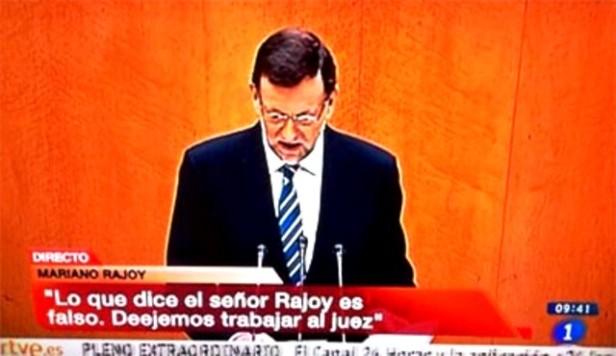 imagen televisiva de Rajoy