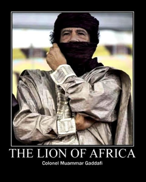 GADAFI - leon africano