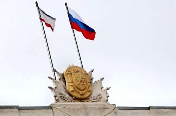 banderas crimea y rusa