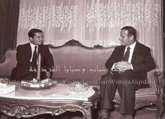 Imagen tomada del blog Tribulaciones Metapoliticas: Adolfo Suárez con Hafez Al-Assad